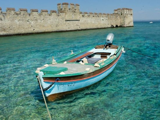 Sirmione, Italy | Walls of the Scaliger castle